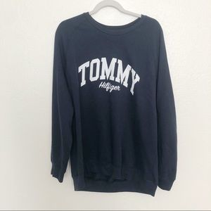 Tommy Hilfiger navy crewneck long sleeve graphic
